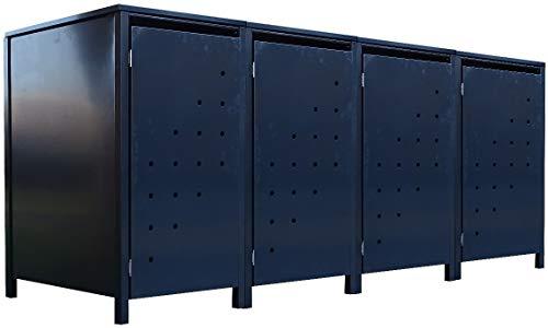 4X Tailor Mülltonnenboxen Basic für 240 Liter Tonne Stanzung 4  Farbe komplett AnthrazitVerschönern Sie Ihre unansehnliche Mülltonnen in Ihrem Hof und Garten