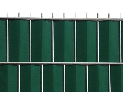 Zaun-Nagel Sichtschutz zum Doppelstabzaun grün Rolle á 35 m inkl 12 Stk Klemmschienen