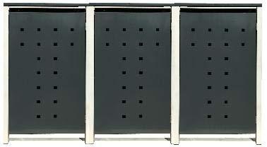 3 Tailor Mülltonnenboxen Basic Duo für 120 Liter TonneStanzung 7  Farbe RAL 7016 AnthrazitRahmen RAL 9006 hell GrauVerschönern Sie Ihre unansehnliche Mülltonnen in Ihrem Hof und Garten