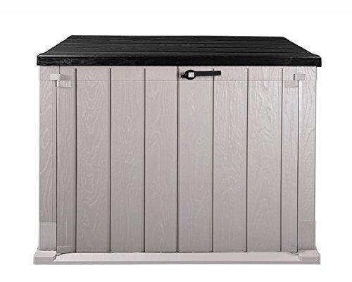 Ondis24 Mülltonnenbox Gartenbox Storer Gerätebox abschließbar für 2 Mülltonnen 750 Liter Anthrazit - Grau