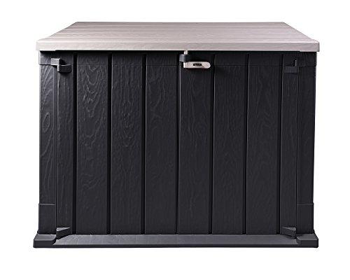 Ondis24 Mülltonnenbox Storer Basic Gerätebox abschließbar für 2 Mülltonnen 750 Liter Anthrazit-Grau