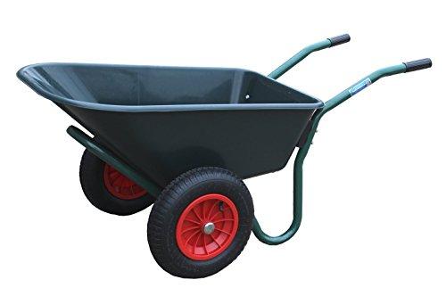 TrutzHolm 2-Rad Schubkarre Basic PP Gartenschubkarre Schiebkarre Gartenkarre 100l 160kg