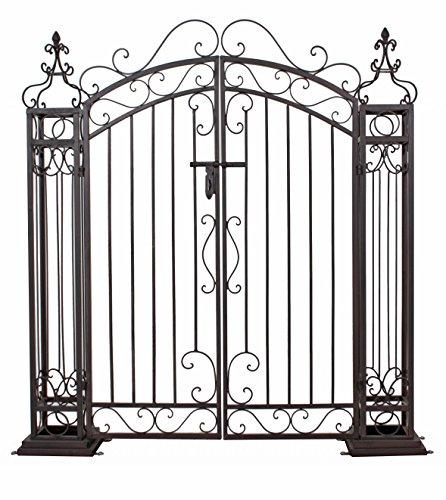 Jardinion Pforte aus Metall Edelrostoptik Stahl Eingang Tor Zaun Tür Garten Haus