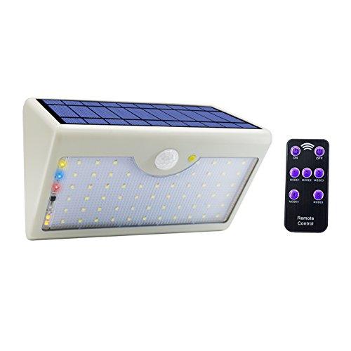 Solar Außenbeleuchtung 120 ° Infrarot Bewegungssensor wasserdicht IP65 Wireless Sicherheitslicht mit 4 intelligenten Modi für Garten Patio Zaun Hof Garage Treppenhaus Tor Wall- weißes Licht