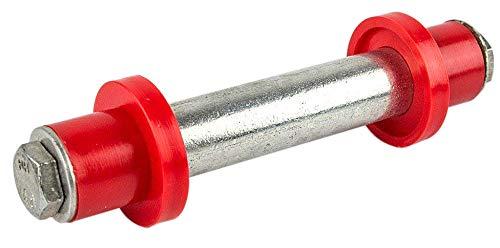 HKB  Achse für Schubkarre 128 mm x 75 mm x Ø 20 mm für PU-Räder Gummiräder oder Luftbereifung Artikel-Nr 20199