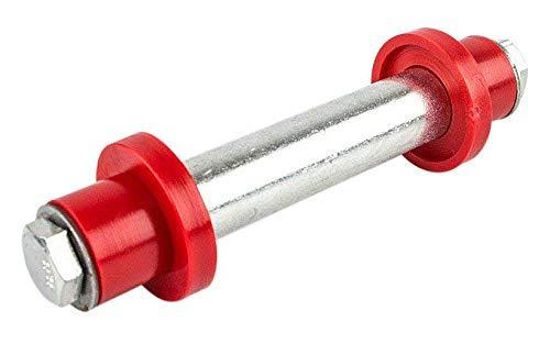 HKB  Achse für Schubkarre oder Sackkarre 128 mm x 75 mm x Ø 20 mm für PU-Räder Gummiräder oder Luftbereifung Artikel-Nr 420056
