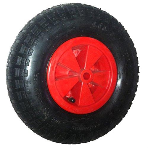 Hehilark Schubkarren Reifen Pannensicheres Schubkarre pneumatic tire Schubkarrenrad LuftreifenRad Ersatz-Rad Achse 120 kg Traglast