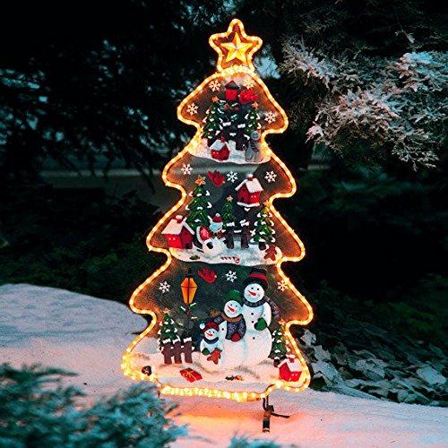 Gärtner Pötschke Leucht-Tannenbaum mit Schneemännern