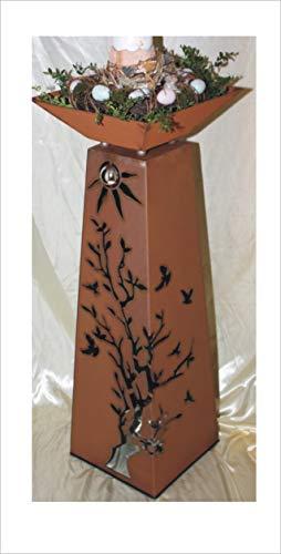 Jabo Design Rost Säule  Schale RS124S11 Säulen konisch Gartensäulen Säulen Deko Blumen