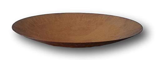 terracotta-toepfe-de Schale ca 50 cm aus Metall - 2 mm Dickes Blech  - Edelrost Rost Eisen Deko Garten Feuerschale