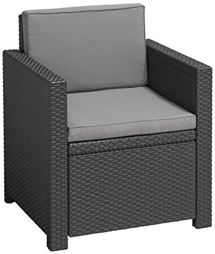 Allibert Lounge Sessel Victoria mit Kissen graphitcool grey