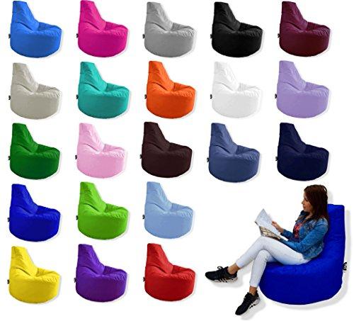 Patchhome Gamer Kissen Lounge Kissen Sitzsack Sessel Sitzkissen In Outdoor geeignet fertig befüllt  Pink - Ø 75cm x Höhe 80cm - in 2 Größen und 25 Farben