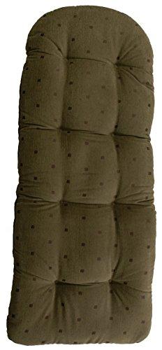 Schaukelstuhl Auflage Oliv mit Muster Polster Kissen 120x50 deutsche Herstellung Auflagekissen  Kissenauflage für Schaukelsessel