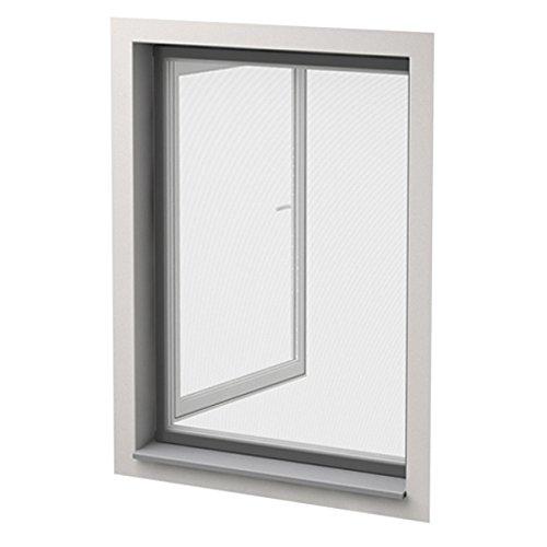 Insektenschutz Alu Rahmen System Profi für Fenster 120 x 150cm anthrazit - kürzbar