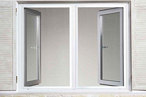 Powerfix Profi Alu Insektenschutz Fenster Slim 130 x 150m Weiß