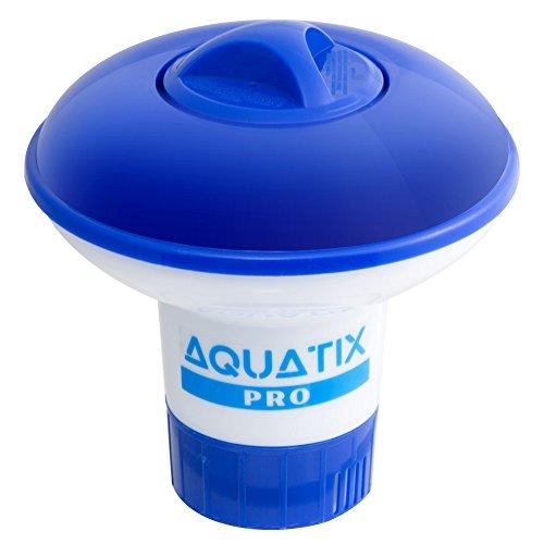 Aquatix Pro Pool Brom Dispenser bietet Premium-Floating-Chlor-Dispenser für Indoor-und Outdoor-Pools bis zu 1 Brom Tablet-Halter auch ALS Spa Chemical Dispenser klein