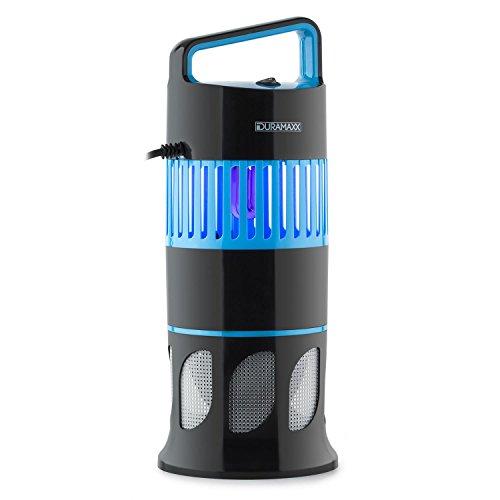 Duramaxx Mosquito Ex Deco • UV-Insektenfalle • Insekten-Licht • Mückenschutz • Insektenschutz • elektrisch • ohne Chemie • geruchsneutral • UV Lampe • 13 Watt • integrierter Lichtsensor • schwarz
