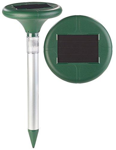 Royal Gardineer Maulwurfschreck 2in1-Solar-Maulwurffrei und Wegeleuchte mit Akku 400 Hz IP44 Wühlmausschreck