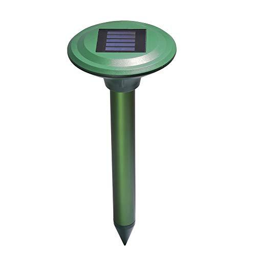 DSNOW Solar Maulwurfabwehr Ultrasonic Maulwurfschreck Maulwurfvertreiber Wühlmausvertreiber Maulwurfbekämpfung Wühlmausschreck Maulwurf Sonic Repeller Schädlingsbekämpfung1 Stück