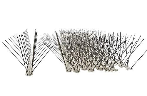 10 Stück 5 m Taubenabwehr 4 Reihen Spikes auf 50 cm Polycarbonatleiste Taubenspikes Vogelabwehr - DIREKT VOM HERSTELLER