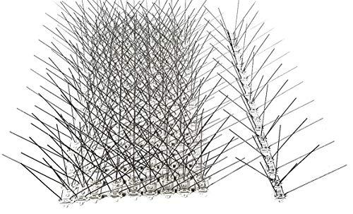 10 Stück 5 m Taubenabwehr 5 Reihen Spikes auf 50 cm Polycarbonatleiste Taubenspikes Vogelabwehr - DIREKT VOM HERSTELLER