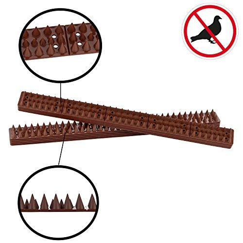 LIFETIME GARDEN Vogelabwehrspitzen  Taubenabwehr  Vogelspikes  490m  10 Panels á 49cm x 45cm  auch für gewölbte Flächen 196m40 Stück