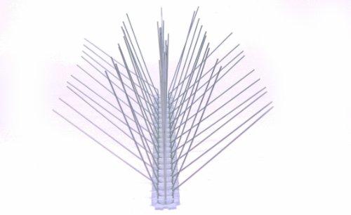 20 Stück 50 cm 5 reihig Edelstahl Taubenabwehr Vogelabwehr Taubenspikes Polycarbonat Profiqualität jetzt mit A Zertifizierung von MD