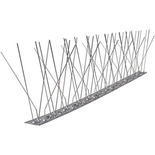 Festnight 5-reihige Vogel- Taubenabwehr-Spikes 6er Set Vogelabwehr Taubenspikes aus Edelstahl