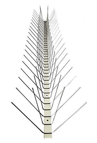 Taubenabwehr PREMIUM QUALITÄT 1 Meter 4-reihig komplett Edelstahl 20 J Garantie