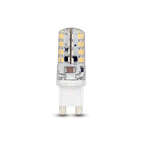 10 Stück CLE LED Stiftsockellampe 3W G9 230V warmweiß