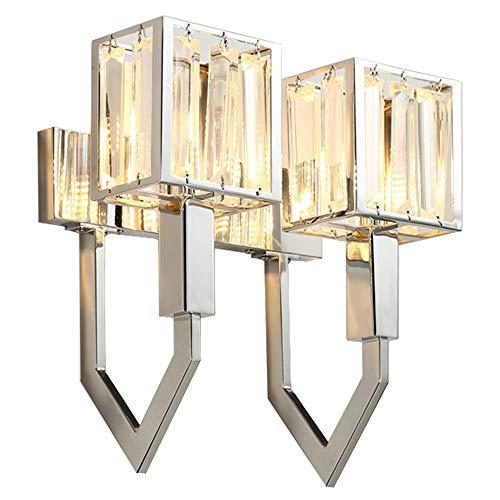 JXJJD Europäische LED-Mode modernen Streifen Kristall Wand Lampe Wand Lampe Wand Lampe Leuchte Nacht Treppen Wohnzimmer Schlafzimmer G9 Lampe Perlen größe  L