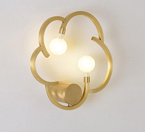 MIWENEinfache Modernen Alle Kupfer Gang Wandleuchte Wohnzimmer Restaurant Schlafzimmer Nachttischlampe Badezimmerwand Leuchte LED Wandleuchte 35  10 cm G9