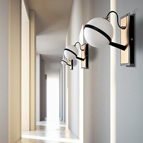 WUTONGModernen Einfache Persönlichkeit Kreative Schlafzimmer Nachttischlampe Wandleuchte Balkon Gang Treppe Ball Iron Wandleuchte LED Wandleuchte 19  11  12 cm G9