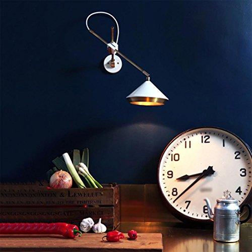WUTONGNordic Style Post Hüte Wandleuchte Studie Zimmer Gang Bett Wandleuchte LED Wandleuchte 45  20  42cm G9