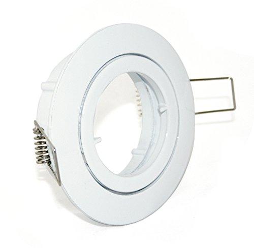 4er Set EinbaustrahlerSpot Bajo in weiss Halogen oder LED geeignet inkl GU10 Fassung und MR16 Fassung 12Volt oder 230V ohne Leuchtmittel