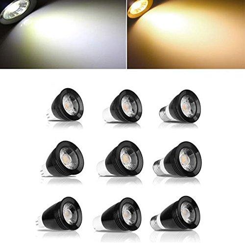 Bazaar ZX gu10 mr16 LED 5w weißen warme weiße plastik und aluminium - spot glühbirne ac85-265v E27 schwarz