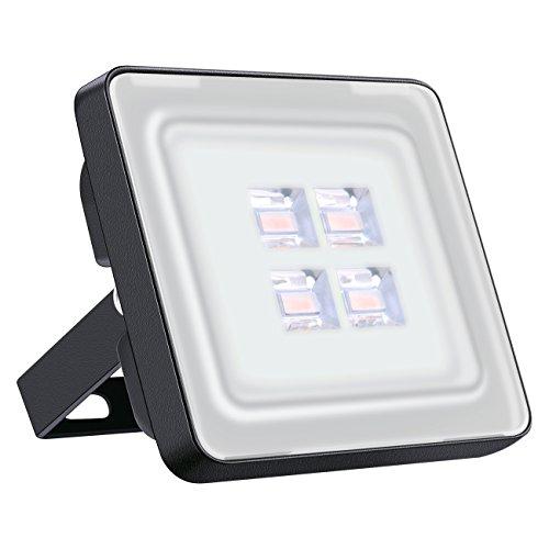 Led Fluter 10W IP65 Wasserdicht Scheinwerfer 1000LM ideale Außenbeleuchtung für Garten Garage Oder Sportplatz