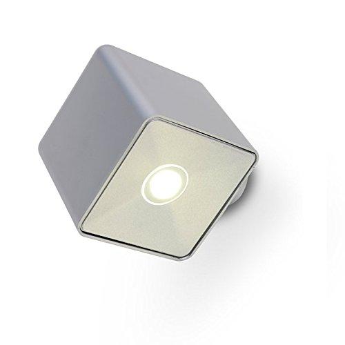 LUTEC Moderne Design Aussenwandleuchte Pixel Kunstoff x Cree LED 3 W 700 Lumen IP 54 silber 1867 SI