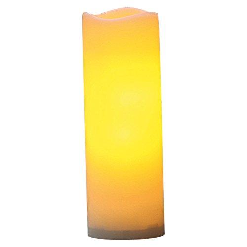 Flower Power LED Outdoor Kerze Plastik 10 x 30 cm crème 9204