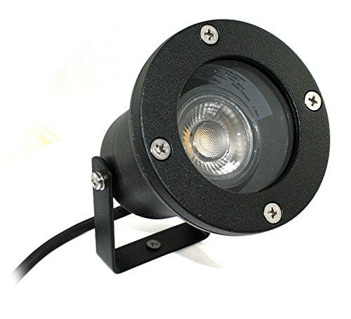 Kamilux 230V LED Bodenstrahler Gartenbeleuchtung Teich Terrasse Piso inkl GU10 5W  50Watt High Power LED Leuchtmittel in tageslichtweiss