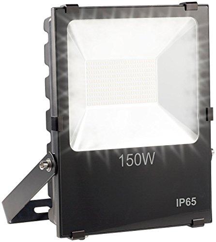 Luminea LED Arbeitsleuchte Wetterfester LED-Fluter 150 W 10500 lm IP65 3000 K warmweiß High-Power-LED-Strahler