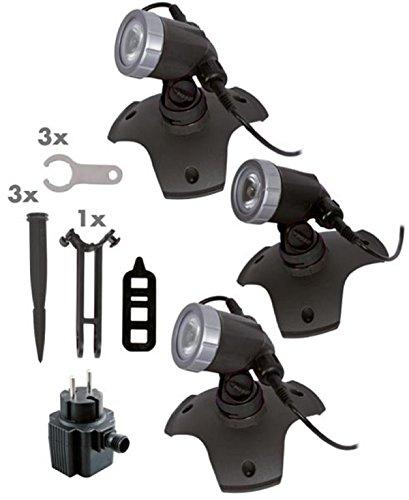 Seliger Außenbeleuchtung Aqaulight 300 Power LED 3er-Set  162 x Ø 150 mm pro Stück