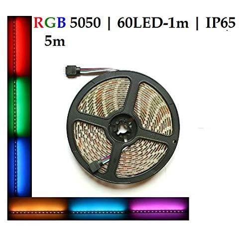 Alpha-LED 5m 300 leds LED Lichtstreifen Stripe 5050 SMD RGB wasserdicht IP65