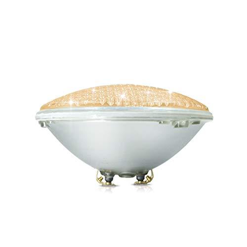 COOLWEST 18W LED Poolbeleuchtung Warmweiß Unterwasserleuchten 12V ACDC IP68 Wasserdicht Unterwasser PAR56 Pool Scheinwerfer ersetzen 150W Halogen Spot