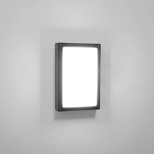 Lightess 18W LED Wandleuchte Außen Außenlampe Außenbeleuchtung Wand Wandlampe Kaltweiss aus Alu IP65 Wasserdicht Außenleuchte Schwarz Aussenwandleuchte für Hauseingang Wänden Wegen Terrassen Fassaden