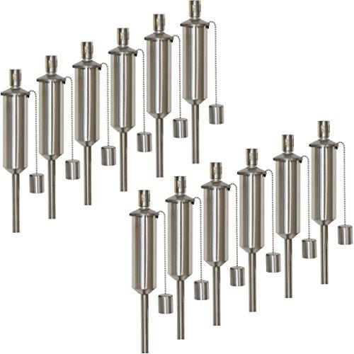 INtrenDU Gartenfackel für draußen aus Edelstahl im Set 115cm Ölfackel Fackel Öllampe für Gartenparty Hochzeit
