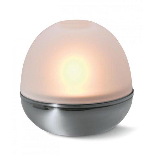 Philippi Design 155005 Lightball Windlicht Stahl verchromt und gefrostetes Glas ø 12 cm - für ein Teelicht