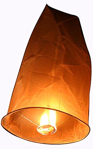 10 Skylaternen der Marke colorama - Orange - 90 x 60 cm Kong Ming Himmelslaternen