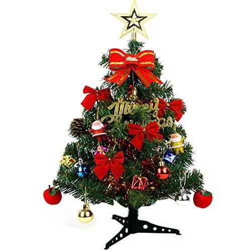 VIGVOG Easy Build Künstlicher Weihnachtsbaum mit Laternen 45 cm Plastik 60 cm