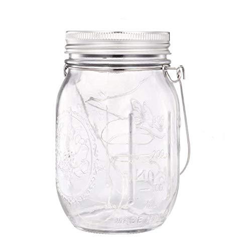 ENKO Mason Jar Licht Solar LED Glas Hängeleuchte Outdoor String Laterne Dekoration für Zuhause Party Garten Hochzeit1 Stück
